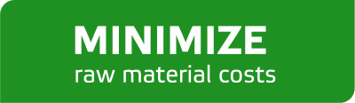 Minimize raw material costs