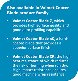 Also available in Valmet Coater Blade product family