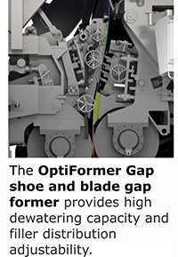 OptiFormer gap shoe and blade gap former