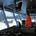 The Otava navigates in challenging conditions