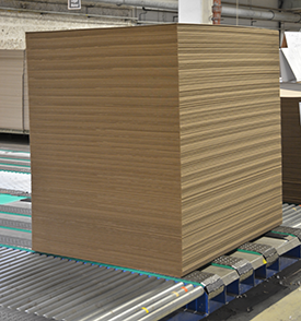 Corrugated board pallet with perfect flatness at Stora Enso Jonkoping