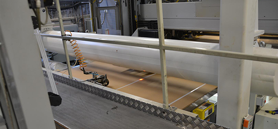 Valmet IQ One-sided Scanner measuring surface moisture of corrugated board at Stora Enso Jönköping