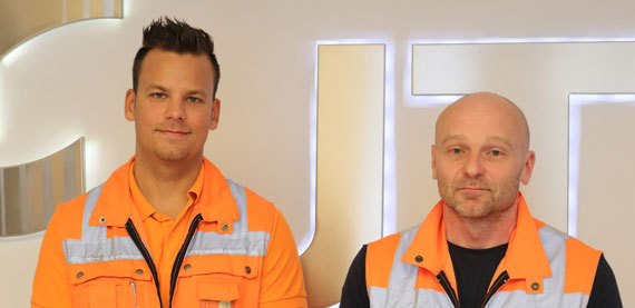Albert Ulla, PM1 Operations Manager and Juha-Pekka Kaivola, Production Manager from Jujo Thermal