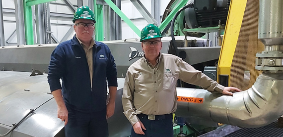 Senior Reliability Engineer Dan Griffith and Senior Maintenance Planner Rob Wilson of Irving Pulp and Paper, Canada, joined Valmet's Maintenance School to ensure the maintainability of their 25-year-old TwinRoll presses. Starring here in front of their Valmet TRPW 1752.