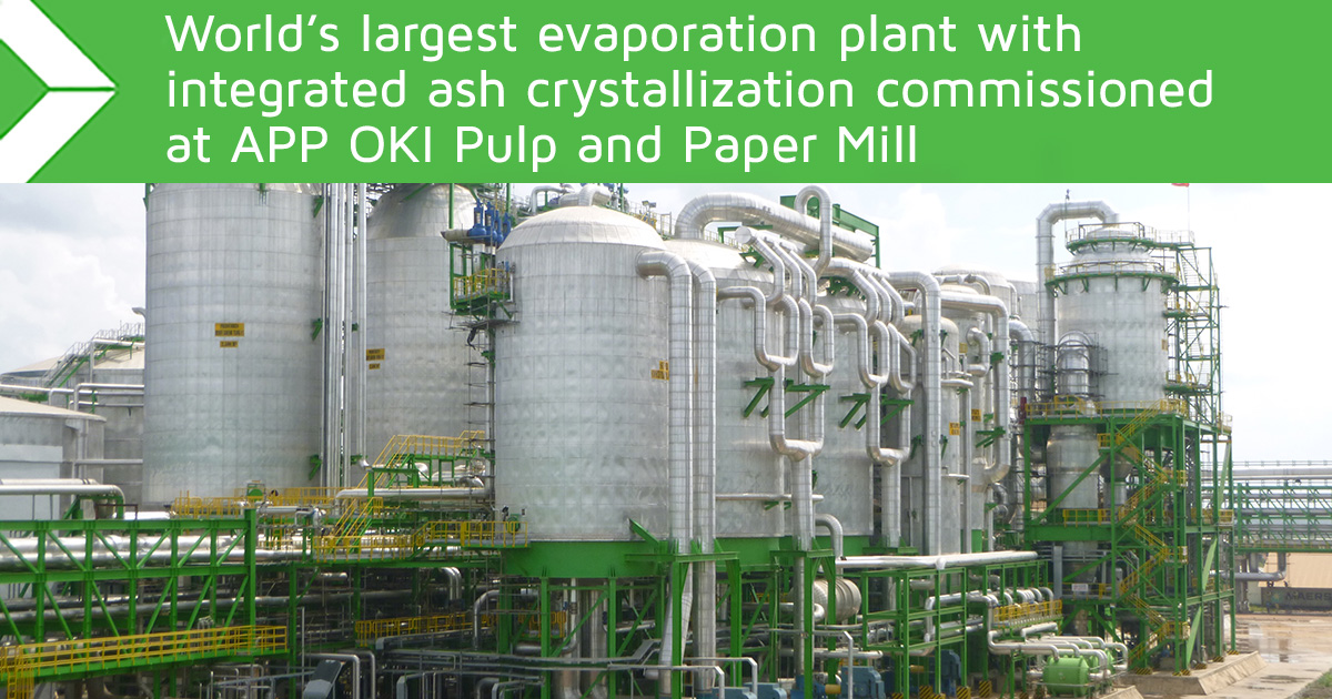 World's largest evaporation plant with integrated ash