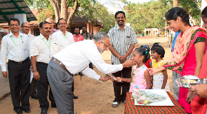 Valmet's representatives received a warm welcome by the SOS Children's Village in Chennai