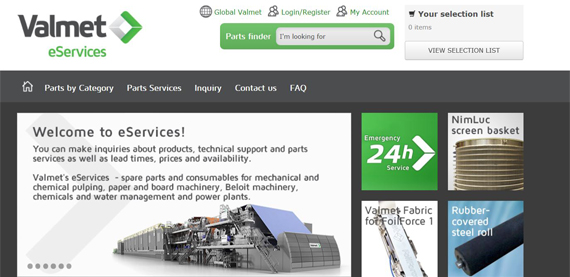 welcome to valmet eservices