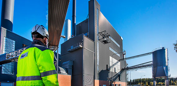 Valmet CFB Boiler utilizes circulating fluidized bed technology