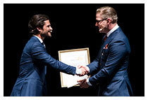 Photo Bjorn Sjostrand winner of Valmet Tissue Technlogy Award 2018