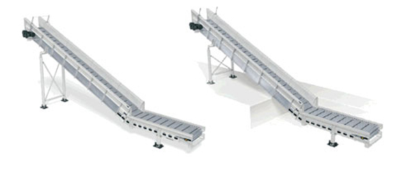 Pulper feed conveyors